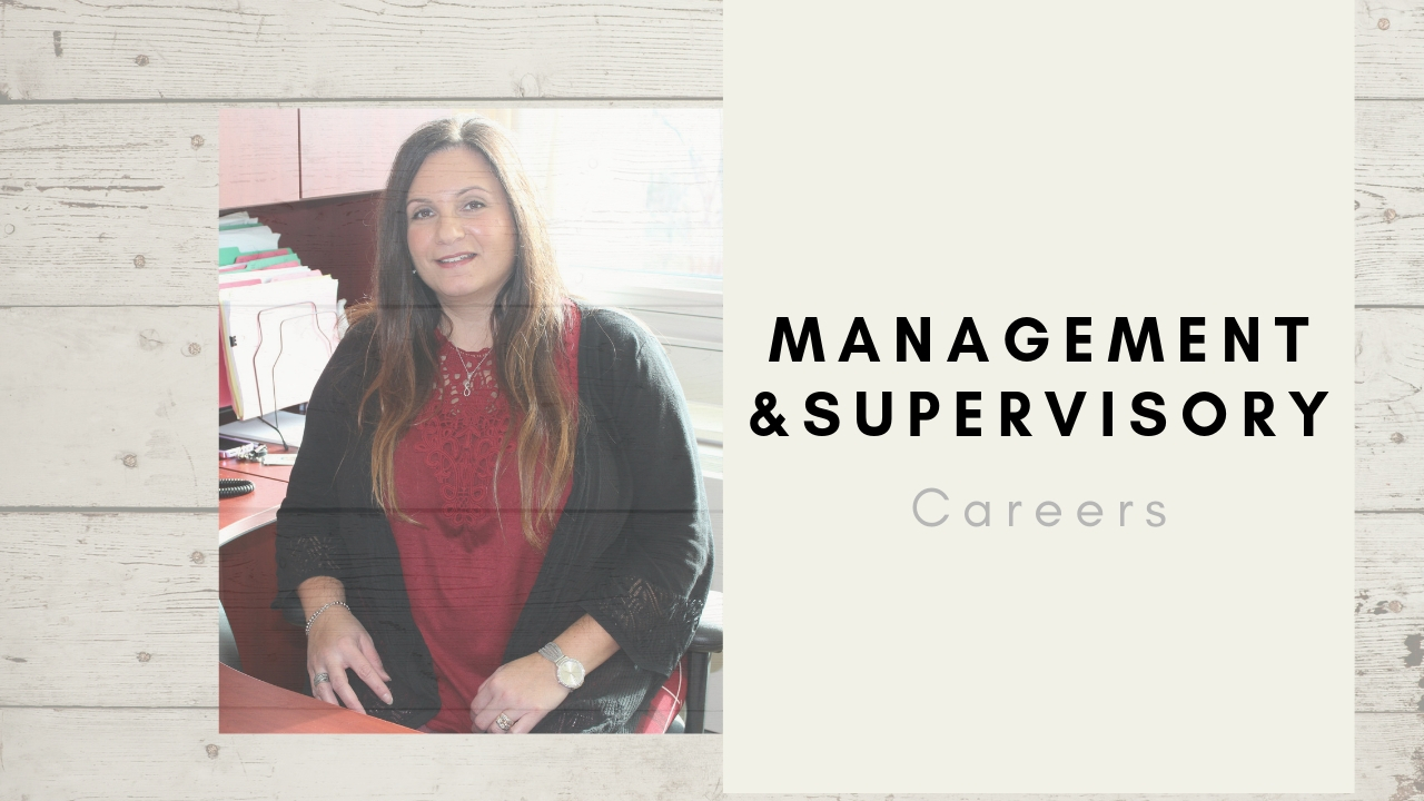 management and supervisory careers