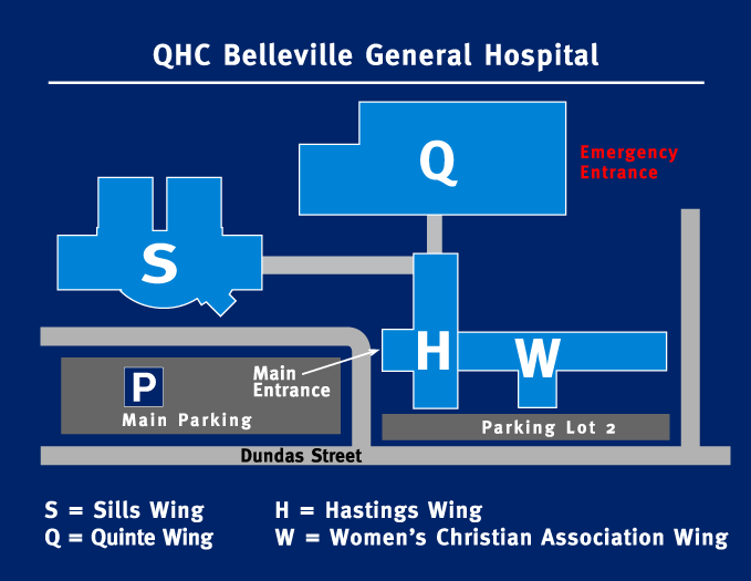 Map of BGH parking